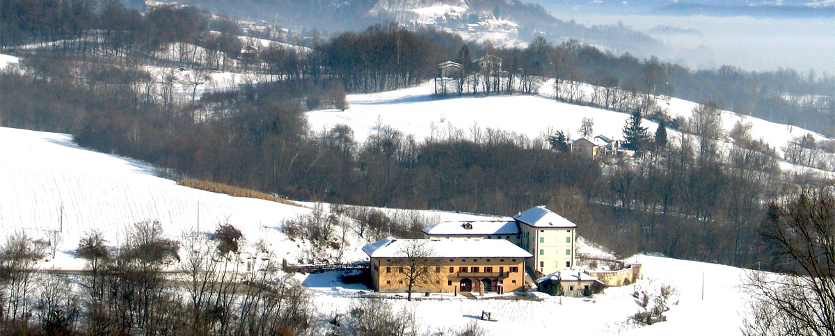 Winter view of Ethnographic Museum of the Province of Belluno and Dolomiti Natiional Park