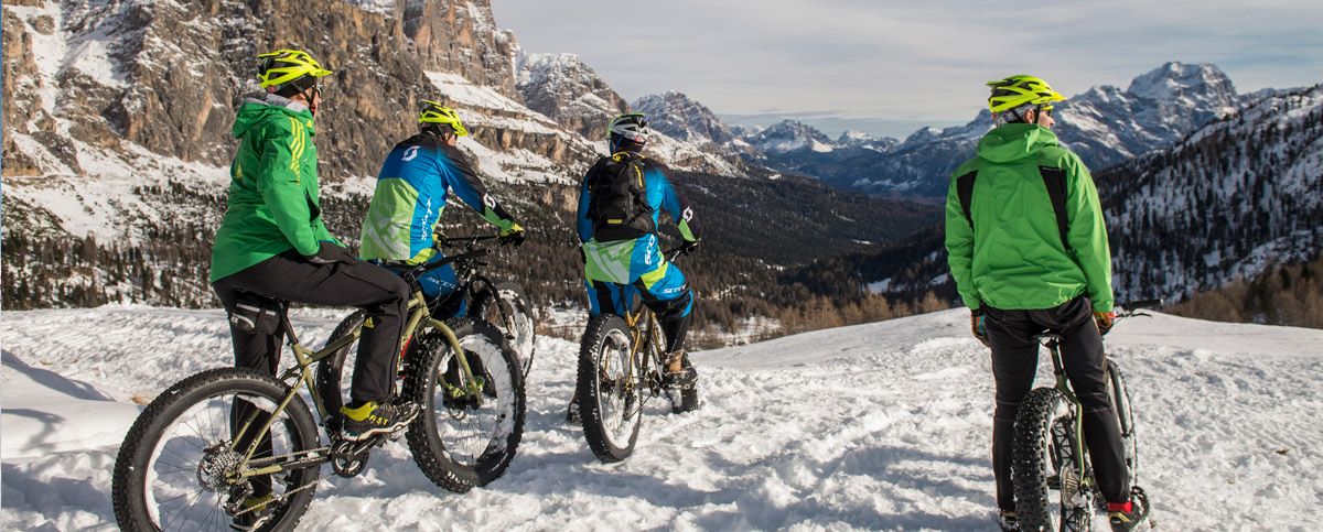 FatBike.... weiche Fälle in Cortina! (Image by Giacomo Pompanin)